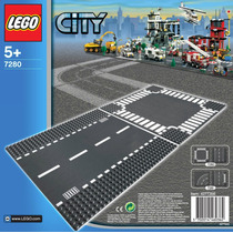 Lego City Road Plates Bases Para Calle Recta Y Crucero 7280