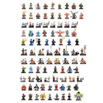 Lote 92 Figuras Compatibles Con Lego Marvel Star Wars