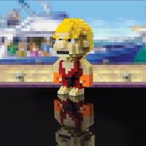 Street Fighter Carácter - Ladrillos Ken Pixel Novedad De La