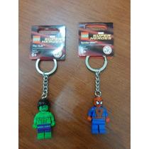 Lego Llaveros Marvel Super Herdes, The Hulk Y Spider Man
