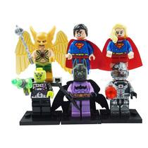 Superman Supergirl Brainiac Birdman Batzarro Cybo Tipo Lego