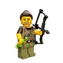 Lego Minifiguras Serie 12 71007 Cazadora De Dinosaurios