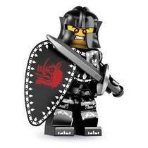 Lego 8831 Minifiguras Serie 7 Caballero Negro!!
