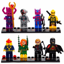 Super Heroes Marvel Dc Comics Set 8 Figuras Tipo Lego Vol 3