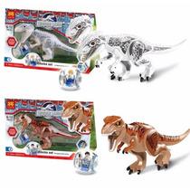 Jurassic World T-rex Indominus Rex Lego Compatible