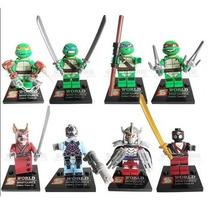 Set De Tortugas Ninja Tipo Lego 8 Figuras