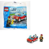 30221 Bombero Con Carro Lego City Ugo Envio Gratis