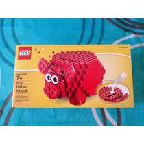 Lego Alcancía Cerdito Rojo Set 40155 - Exclusivo De Usa