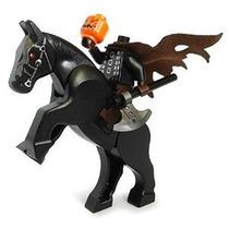 El Jinete Sin Cabeza - Lego De Halloween Minifigure Con La C