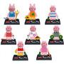 Genial Set De 8 Peppa Pig Minifiguras Para Armar