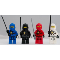 Tb Lego Ninjago Set Of 4 Ninjago Minifigures