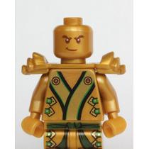 Tb Lego Ninjago - The Gold Ninja With 3 Weapons