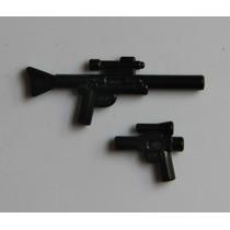 Lego Star Wars Arma Larga Y Pistola Las 2x $50 Minifiguras