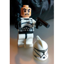 10 Muñequitos De Star Wars Clone Trooper Compatible Con Lego