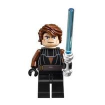 Lego Star Wars Minifigure Anakin Skywalker Con Lightsaber (c