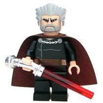 Lego Star Wars Conde Dooku Minifigure Con Lightsaber