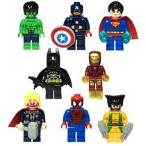 Minifiguras 8 Wolverine Dc Marvel Superman Thor Retromex V