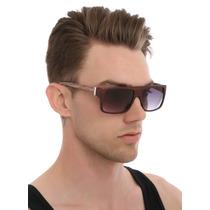 Hot Topic Lentes Madera Faux Wood Flat Top Sunglasses