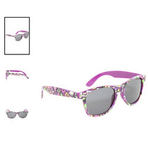 Hot Topic Lentes Nerd Purple Shapes Retro Sunglasses