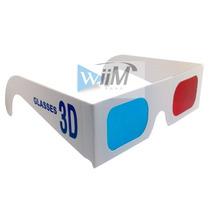 Lentes 3d Cyan Y Rojo Paquete De 100 Gafas Anteojos