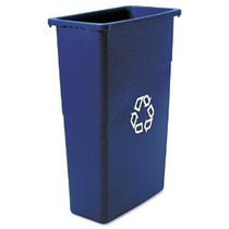 Rubbermaid Commercial Slim Jim Reciclaje 23 Galones Azul (35