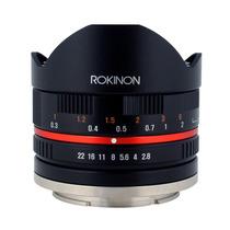 Lente Ojo De Pez Rokinon 8mm F2.8 Para Sony E-mount Nex Maa