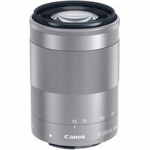 Lente Canon Ef-m 55-200 Mm F / 4.5 A 6.3 Is Stm (plata) Dgv