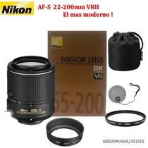 Lente Nikon 55-200mm Vr Ii D7000 D7100 D7200 D5500 D5300