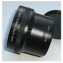 Lente Ojo De Pez .25x ! Para Canon O Nikon 2 Lentes En Uno!