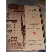 Librito Folleto Conmemorativo De La 2da Feria Industrial, Co