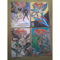 Superman Hombre Halcón Lote De 4 Serie Aguila 1987 Vid