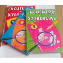 3 Libros Encuentra Las Diferencias Juego Destreza Jt**