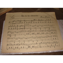 Antigua Partitura Para Piano ,vals Tu Eres Mi Adoracion, Ol