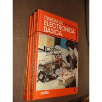 Libro Manual De Electronica Basica Oceano, 4 Tomos, Año 1986
