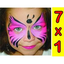 Aprende Maquillaje Niños Pinta Caritas 7 X 1 Envio Gratis .