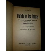 Ciceron Tratado De Los Deberes Editora Nacional