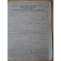 Formato Antiguo Para Declaracion De Impuestos 1965 Con Lapiz