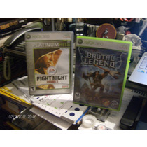 Juegos Para Xbox 360, Brutal Legend Y Fight Night Round 3.