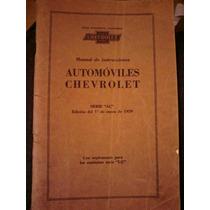 Manual De Instrucciones Automoviles Chevrolet 1929