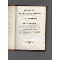 Libro Antiguo 1834 Elementos De Calculo Diferencial