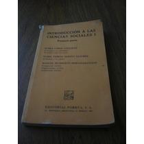 Introducción A Las Ciencias Sociales 1 Primera Parte- Porrua
