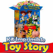 Kit Imprimible Toy Story Editable Cajitas Armables Fiesta