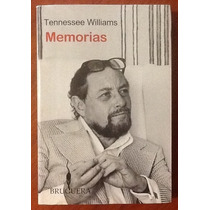 Memorias Tennessee Williams 1a. Edición