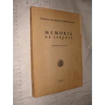 Libro Memoria De Labores , Año 1953 , Secretaria Del Trabajo