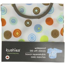 Kushies Babero Impermeable Con Mangas Blancas Círculo Infant