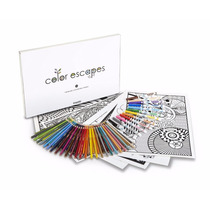 Crayola Color Escapes Adult Coloring Pages & Pencil Kit- Geo