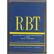 Rbt Reglamento Electrotécnico Para Baja Tensión