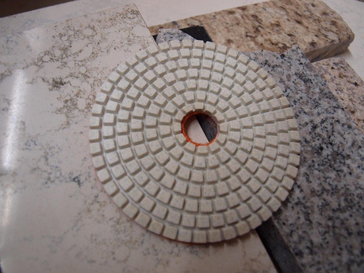Lija diamantada 4 humedo o seco pad pulir granito marmol - Granito sin pulir ...