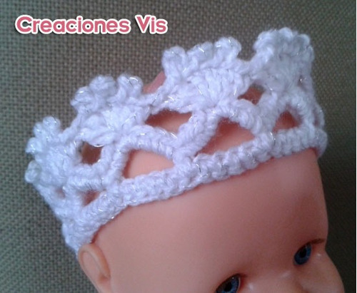 Linda Corona De Princesa Para Tu Niña. Tejida A Crochet - $ 45.00 ...