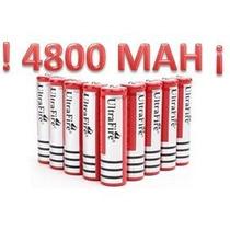 Mayoreo 10 Baterías Pila Recargables Tipo 18650 3.7v 4200mah